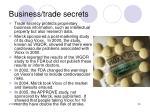 business trade secrets