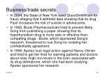 business trade secrets26