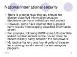 national international security28