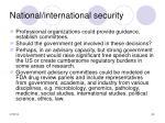 national international security33