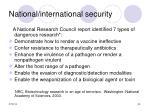 national international security34