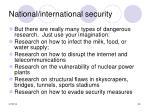 national international security35