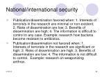 national international security38