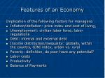 features of an economy