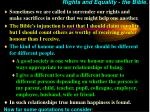 rights and equality the bible