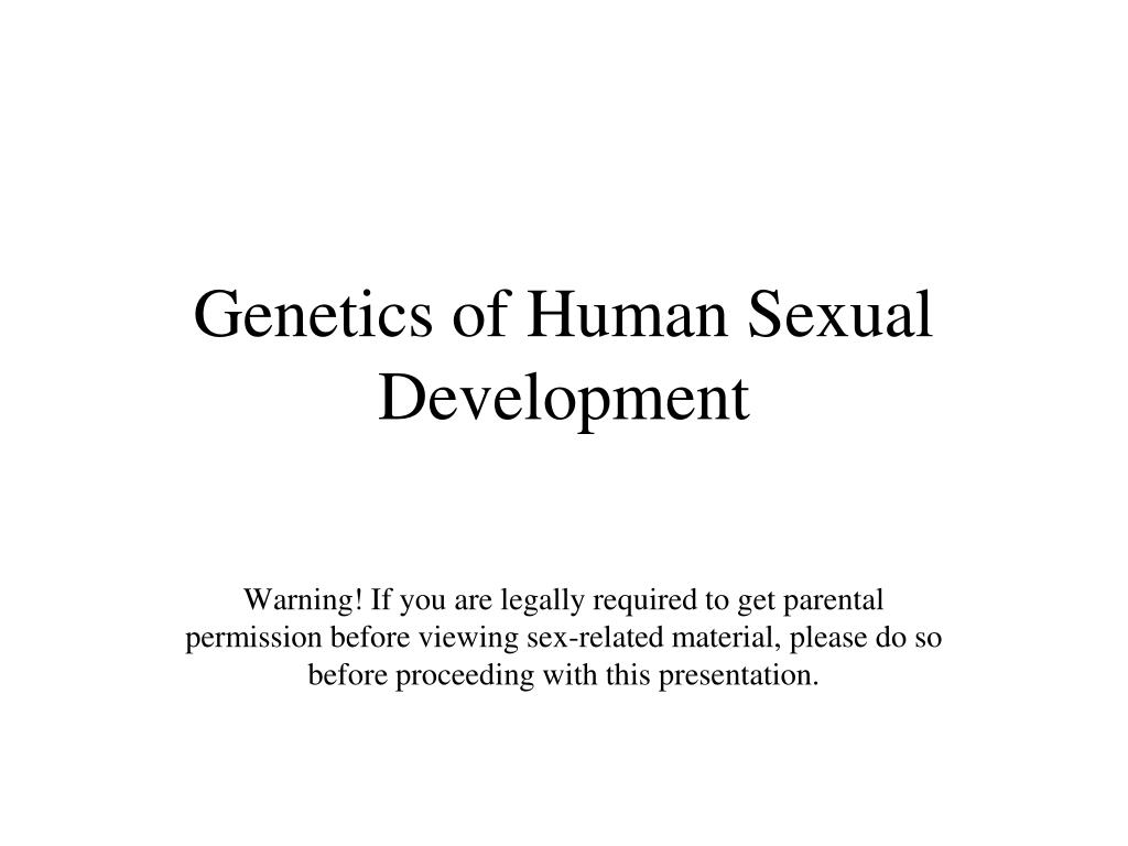 genetics of human sexual development l.