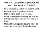 how do i design my layout for the kind of operations i want