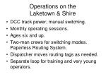 operations on the laketown shire