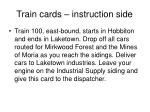 train cards instruction side