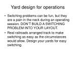 yard design for operations