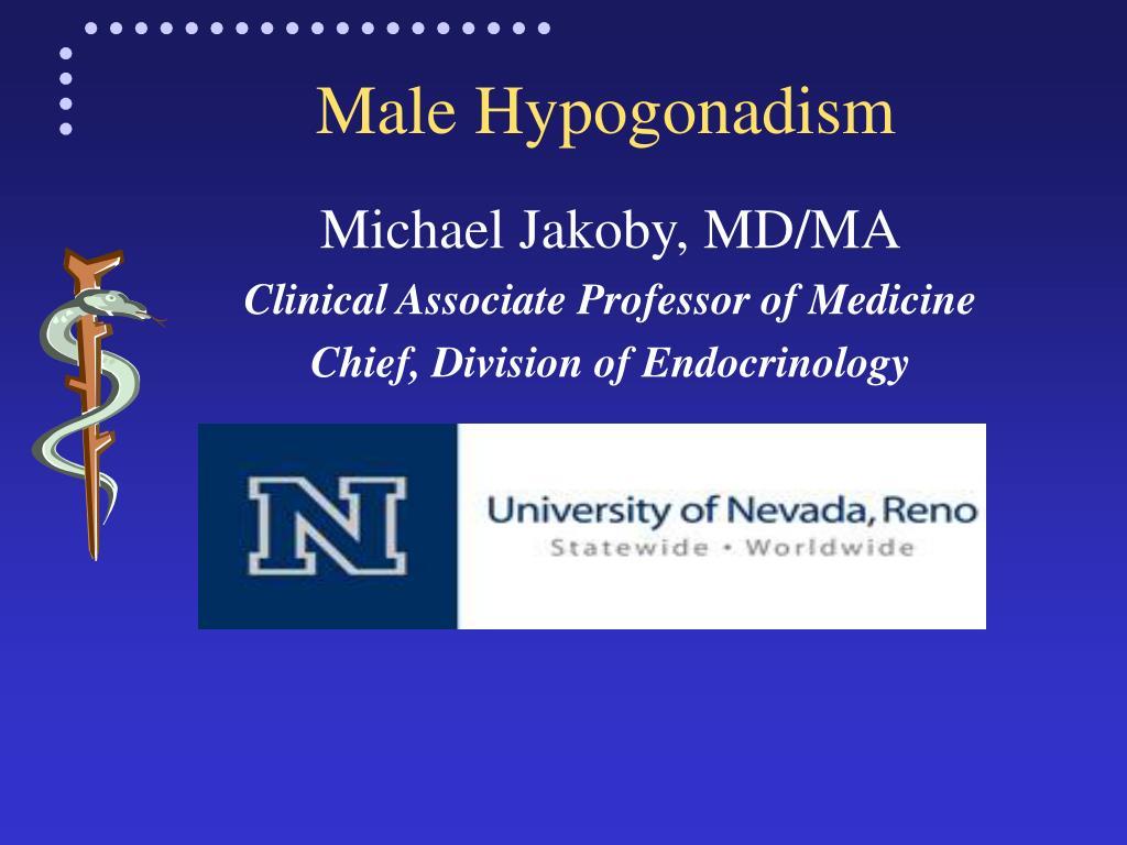 male hypogonadism l.