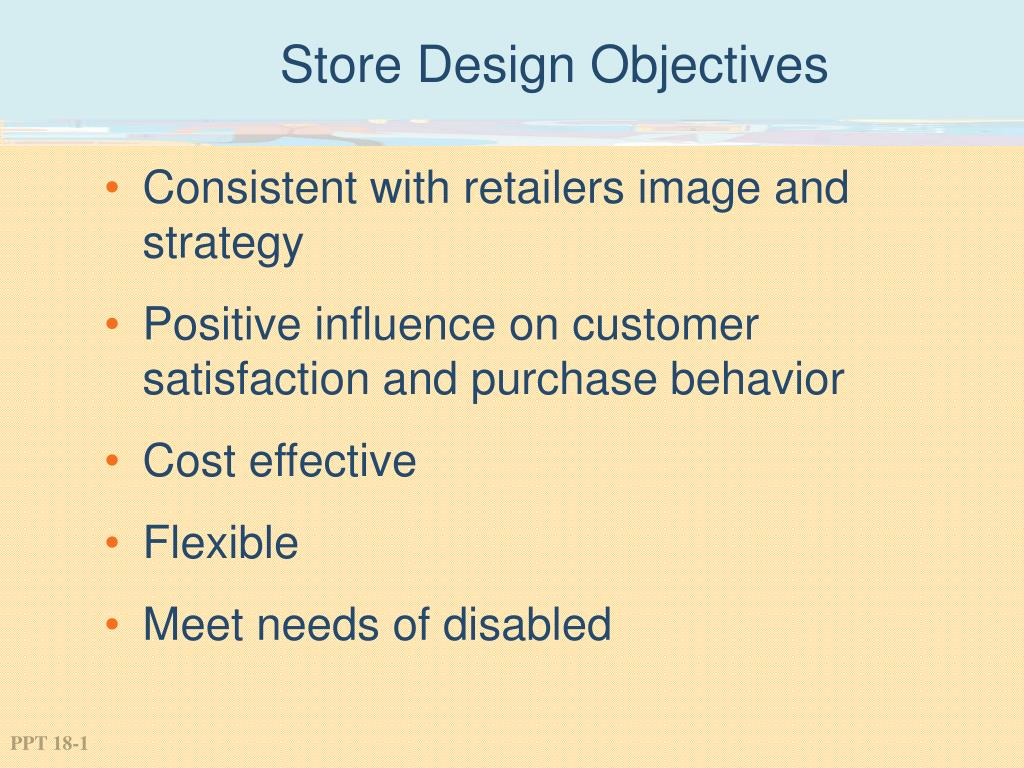 store design objectives l.