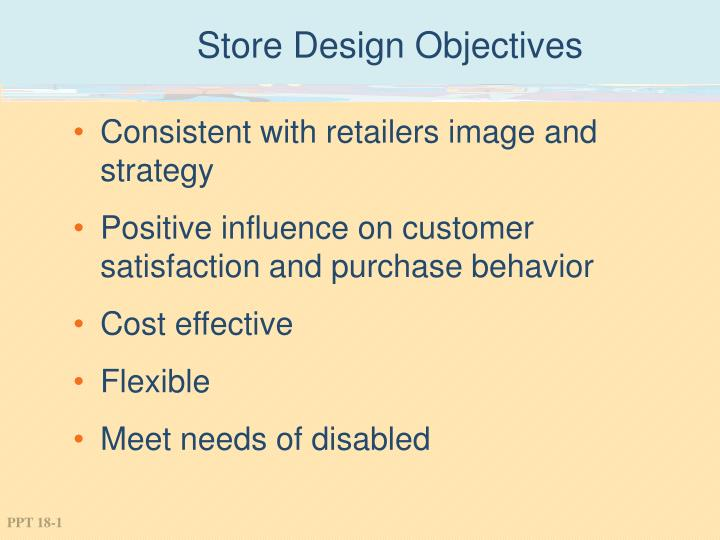 store design objectives n.