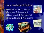 four sectors of output