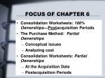 focus of chapter 6