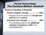partial ownerships the purchase method goodwill