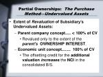 partial ownerships the purchase method undervalued assets