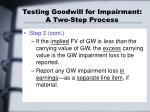 testing goodwill for impairment a two step process13