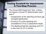 testing goodwill for impairment a two step process15