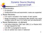 dynamic source routing internet draft