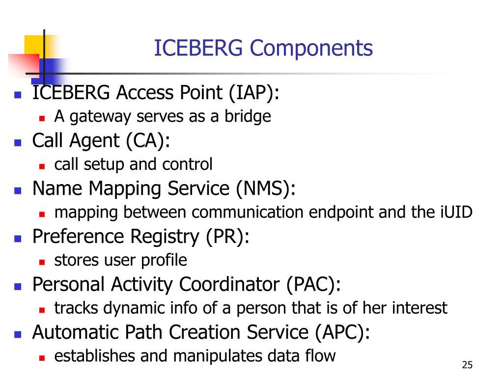 ICEBERG Components