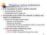 mitigating routing misbehavior