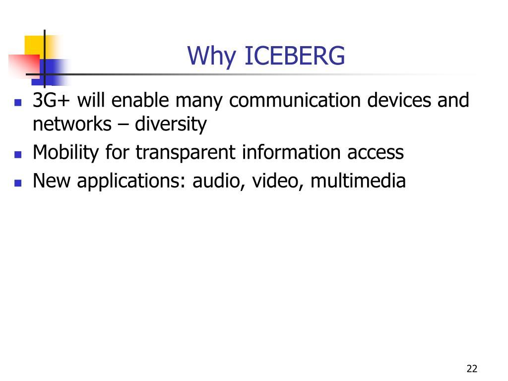 Why ICEBERG