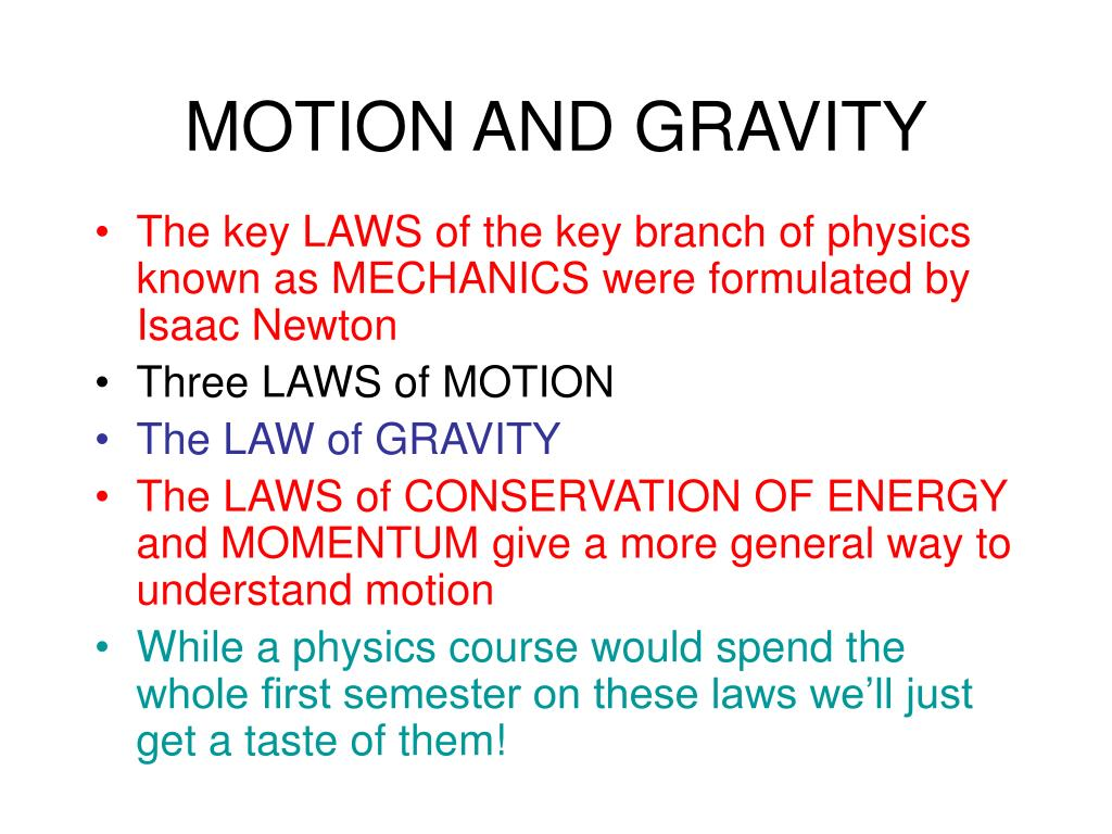 motion and gravity l.