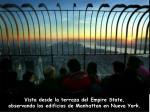 vista desde la terraza del empire state observando los edificios de manhattan en nueva york