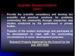 scientific research council cont