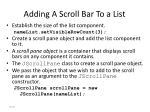 adding a scroll bar to a list87