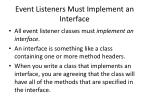 event listeners must implement an interface