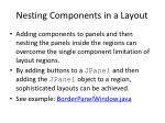 nesting components in a layout