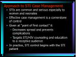 approach to sti case management