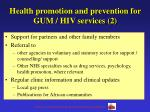 health promotion and prevention for gum hiv services 2