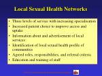 local sexual health networks