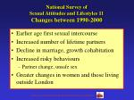 national survey of sexual attitudes and lifestyles 11 changes between 1990 2000