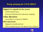 pump priming for gum 2002 3