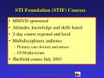 sti foundation stif courses