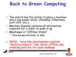 back to green computing