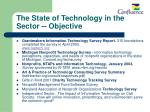 the state of technology in the sector objective