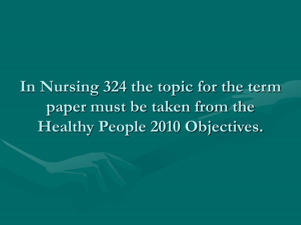 community health nursing paper term