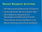 recent blueprint activities