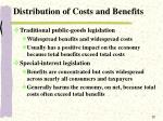 distribution of costs and benefits