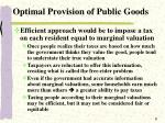 optimal provision of public goods8