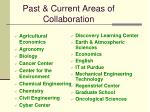 past current areas of collaboration
