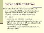 purdue e data task force