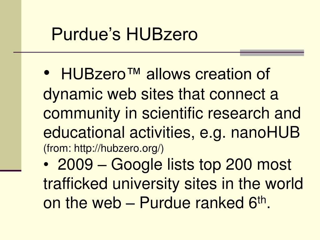 Purdue's HUBzero