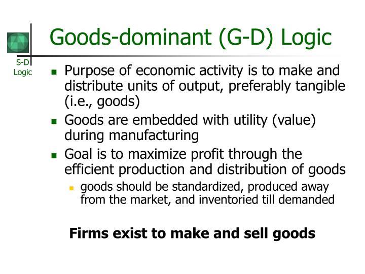 Goods dominant g d logic
