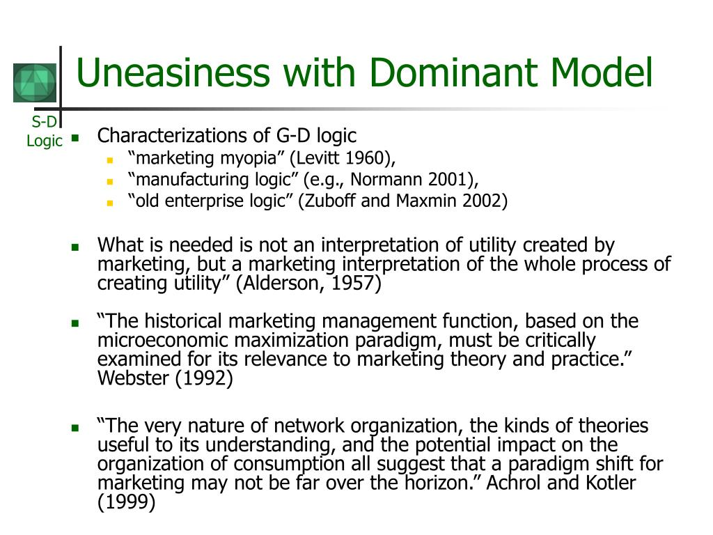 Uneasiness with Dominant Model